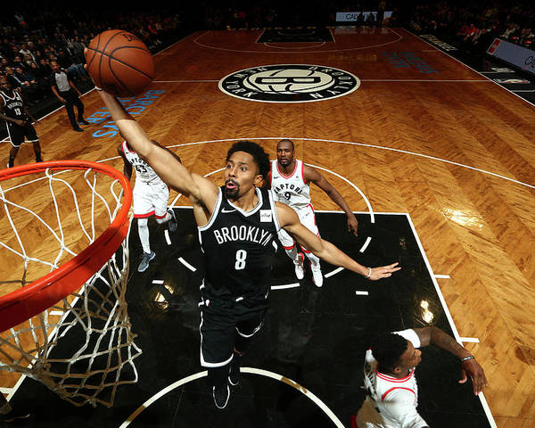 Nba Pro Basketball Poster featuring the photograph Spencer Dinwiddie by Nathaniel S. Butler