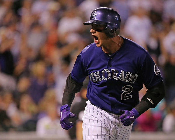 Game Two Poster featuring the photograph Troy Tulowitzki by Doug Pensinger