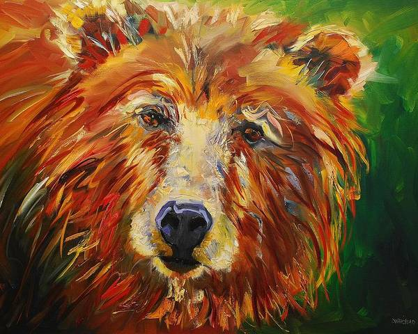 Bear Poster featuring the painting A Bunch Of Bear by Diane Whitehead