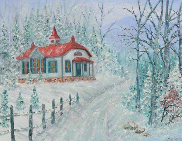 Christmas Scene Poster featuring the painting A Winters Day by Ben Kiger