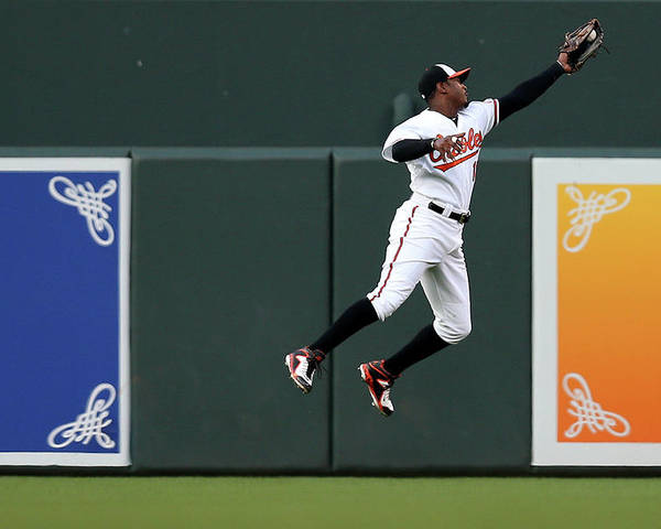 Second Inning Poster featuring the photograph Adam Jones by Patrick Smith