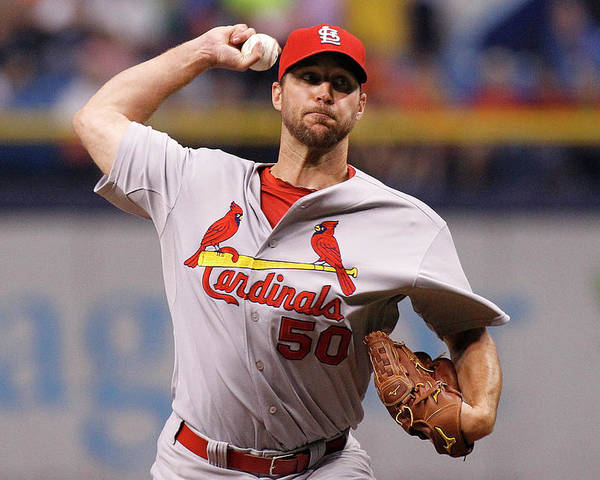 St. Louis Cardinals Poster featuring the photograph Adam Wainwright by Brian Blanco