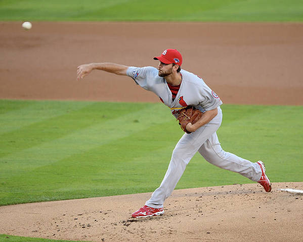 St. Louis Cardinals Poster featuring the photograph Adam Wainwright by Harry How