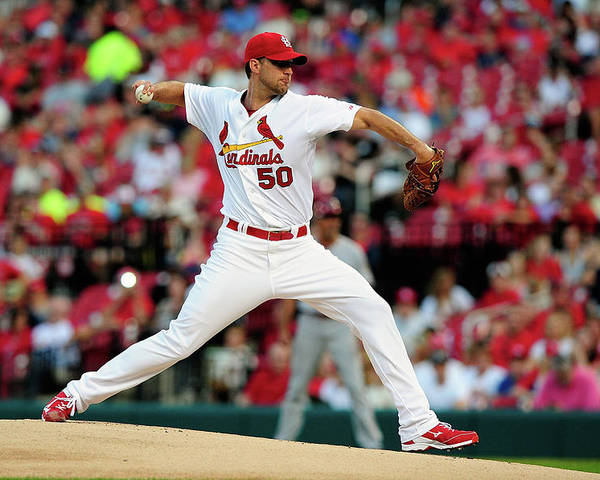 St. Louis Cardinals Poster featuring the photograph Adam Wainwright by Jeff Curry