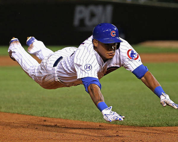 People Poster featuring the photograph Addison Russell by Jonathan Daniel