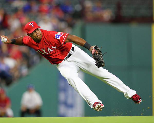 Adrian Beltre Poster featuring the photograph Adrian Beltre by Rick Yeatts