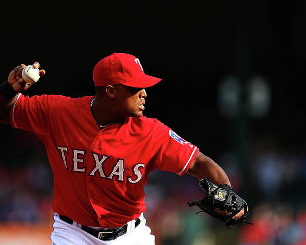 Adrian Beltre Poster featuring the photograph Adrian Beltre by Sarah Crabill
