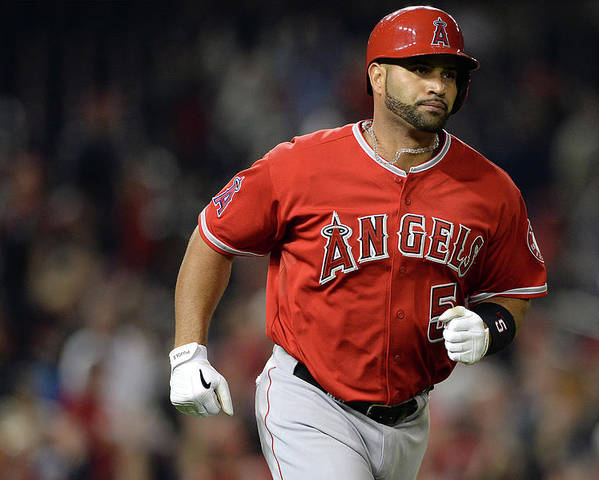 American League Baseball Poster featuring the photograph Albert Pujols by Patrick Smith