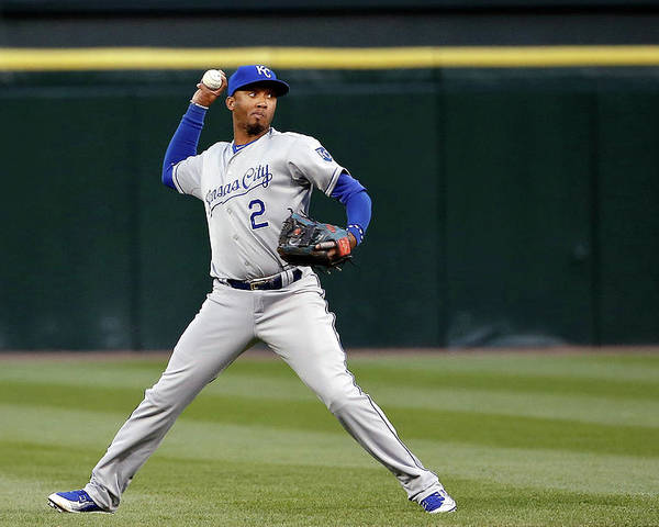 Second Inning Poster featuring the photograph Alcides Escobar by Jon Durr