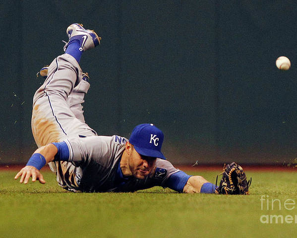 People Poster featuring the photograph Alex Gordon and Jason Kipnis by David Maxwell