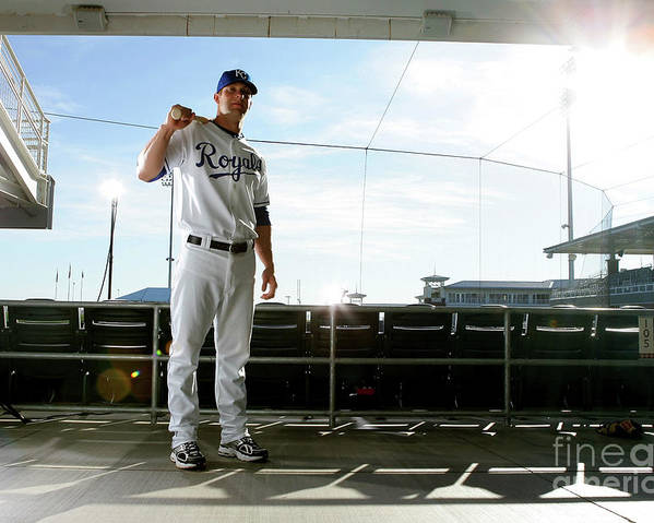 Media Day Poster featuring the photograph Alex Gordon by Jonathan Ferrey