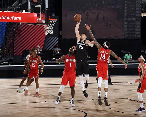 Nba Pro Basketball Poster featuring the photograph Alex Len by Joe Murphy