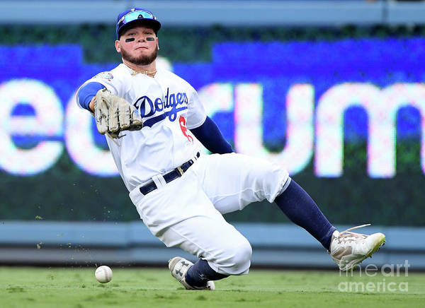People Poster featuring the photograph Alex Verdugo And Amed Rosario by Harry How