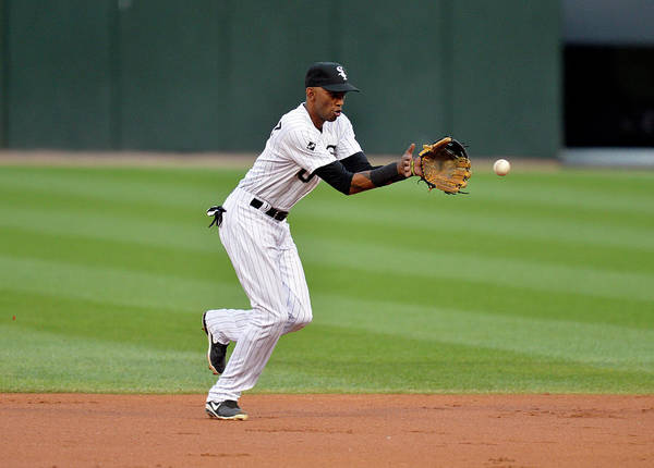 Second Inning Poster featuring the photograph Alexei Ramirez by Brian Kersey