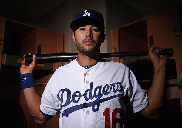Media Day Poster featuring the photograph Andre Ethier by Christian Petersen