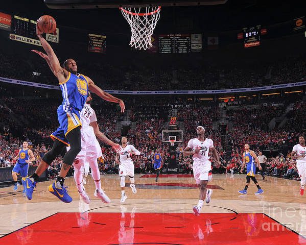 Playoffs Poster featuring the photograph Andre Iguodala by Sam Forencich