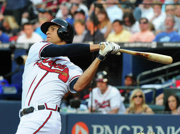 Atlanta Poster featuring the photograph Andrelton Simmons by Scott Cunningham