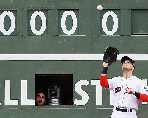 People Poster featuring the photograph Andrew Benintendi and Josh Donaldson by Maddie Meyer