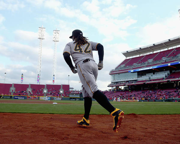 Great American Ball Park Poster featuring the photograph Andrew Mccutchen by Andy Lyons
