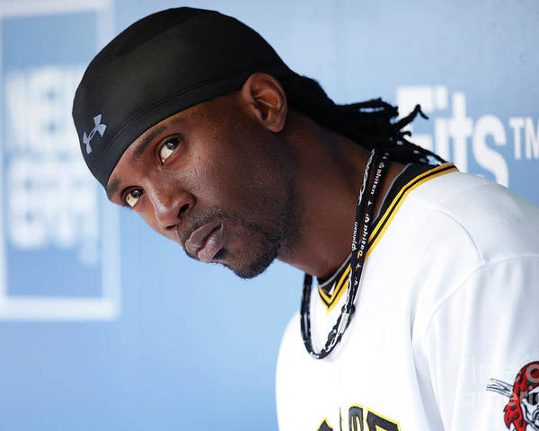 Pnc Park Poster featuring the photograph Andrew Mccutchen by Joe Robbins