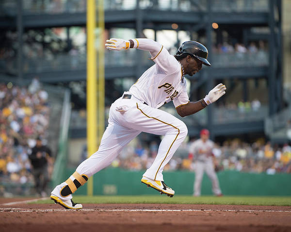 Pnc Park Poster featuring the photograph Andrew Mccutchen by Rob Tringali