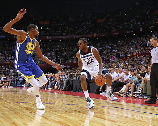 Event Poster featuring the photograph Andrew Wiggins and Kevin Durant by David Sherman
