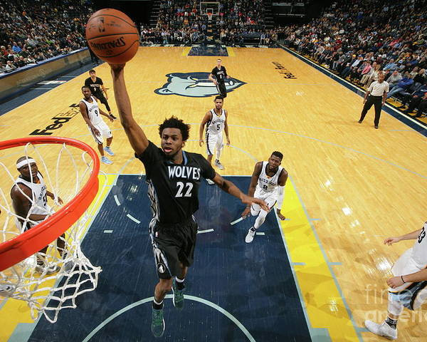 Nba Pro Basketball Poster featuring the photograph Andrew Wiggins by Joe Murphy