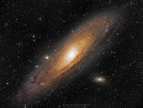 Andromeda Galaxy Poster featuring the photograph Andromeda Galaxy by Prabhu Astrophotography