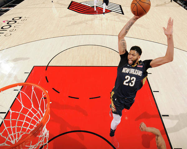 Playoffs Poster featuring the photograph Anthony Davis by Cameron Browne