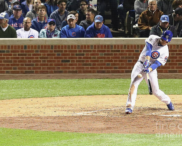 People Poster featuring the photograph Anthony Rizzo by Dylan Buell
