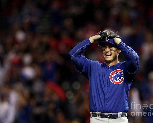 Three Quarter Length Poster featuring the photograph Anthony Rizzo by Elsa