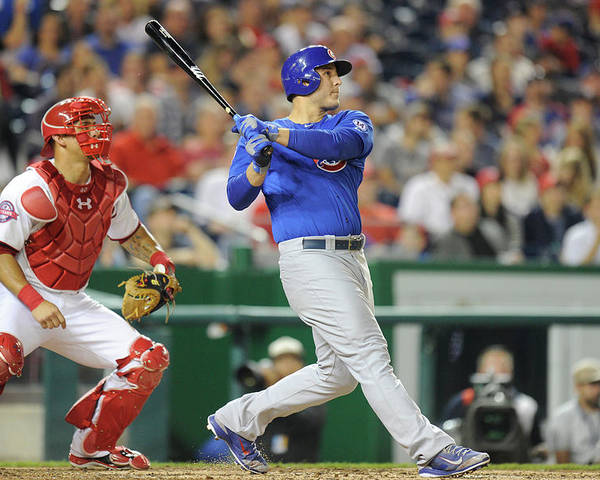 People Poster featuring the photograph Anthony Rizzo by Mitchell Layton