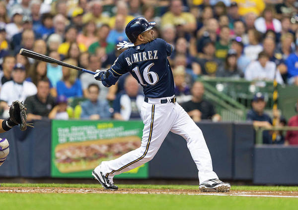 American League Baseball Poster featuring the photograph Aramis Ramirez by Tom Lynn