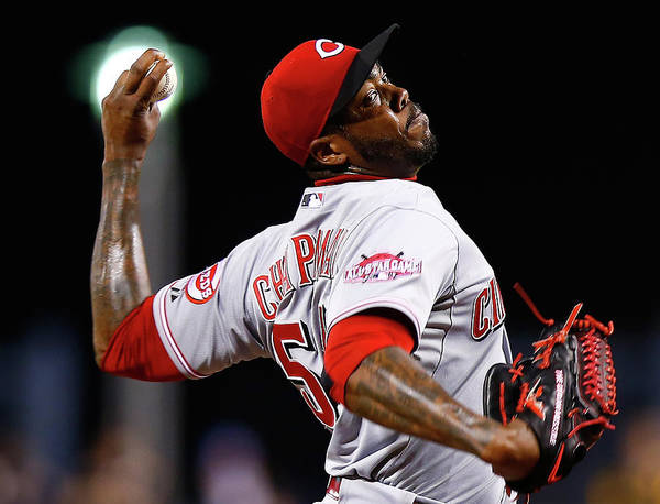 Ninth Inning Poster featuring the photograph Aroldis Chapman by Jared Wickerham