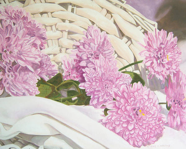 Fine Art Print Poster featuring the painting Floral Art Print For Sale Still Life Oil Painting by Diane Jorstad