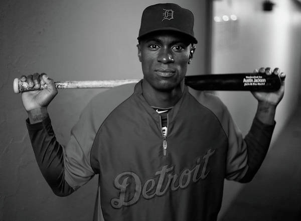 American League Baseball Poster featuring the photograph Austin Jackson by Jared Wickerham