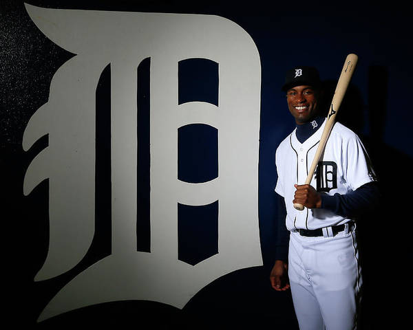 Media Day Poster featuring the photograph Austin Jackson by Kevin C. Cox