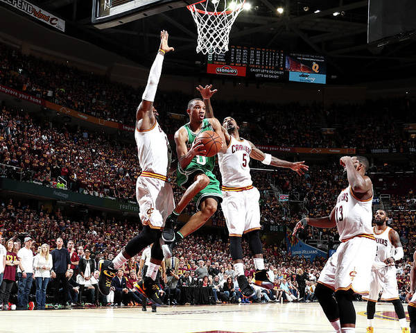 Playoffs Poster featuring the photograph Avery Bradley by Nathaniel S. Butler