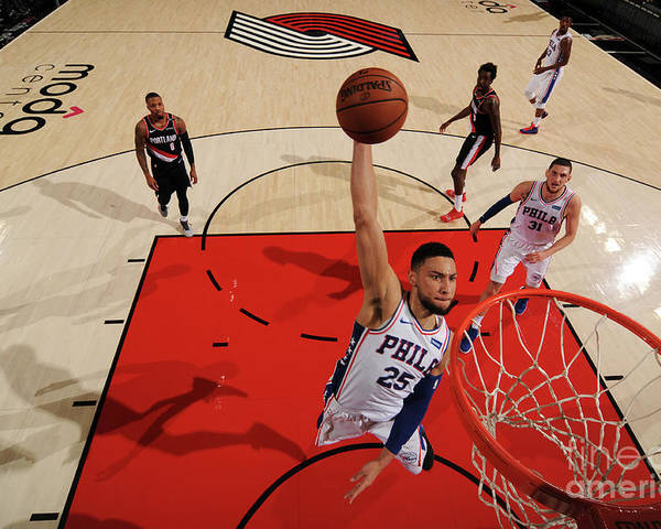 Nba Pro Basketball Poster featuring the photograph Ben Simmons by Cameron Browne
