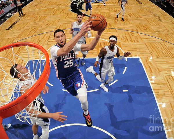 Nba Pro Basketball Poster featuring the photograph Ben Simmons by Fernando Medina