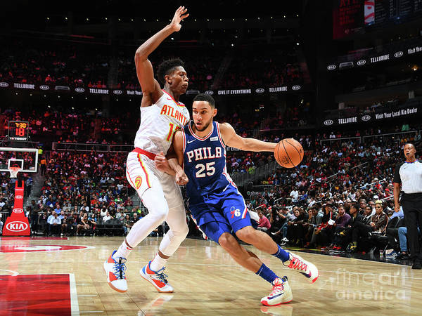 Atlanta Poster featuring the photograph Ben Simmons by Scott Cunningham