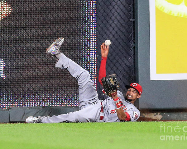 Ninth Inning Poster featuring the photograph Billy Hamilton by Brian Davidson