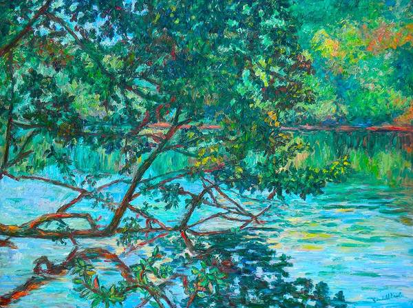 Landscape Poster featuring the painting Bisset Park by Kendall Kessler
