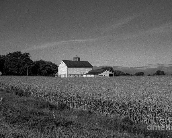 Black And White Poster featuring the photograph Black and White Farmstand by David Bearden