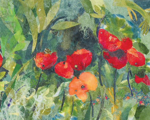 Flowers Poster featuring the painting Blossom by Nira Schwartz