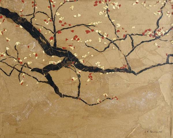Blooming Branch Poster featuring the painting Branch by Leah Tomaino