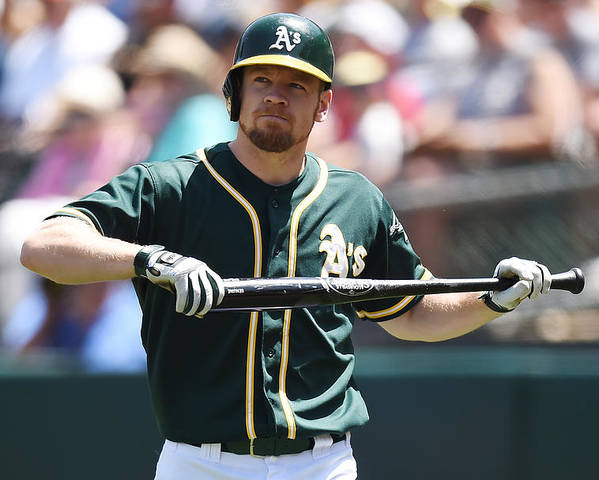 American League Baseball Poster featuring the photograph Brandon Moss by Thearon W. Henderson