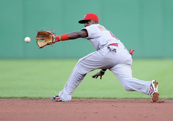 Second Inning Poster featuring the photograph Brandon Phillips and Ike Davis by Joe Sargent