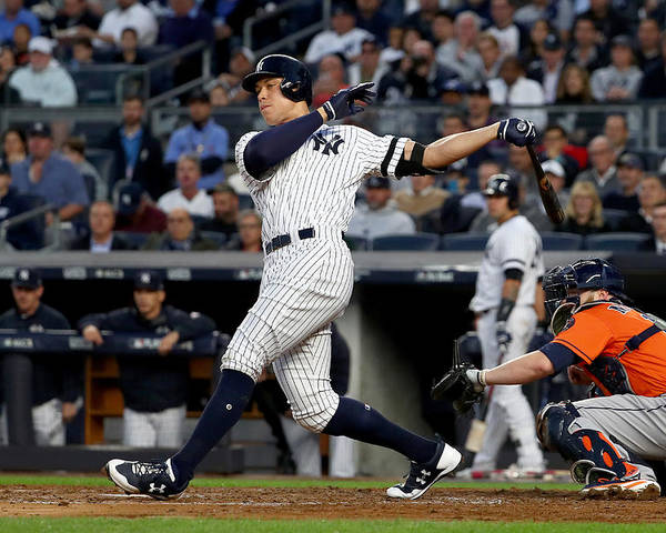 Championship Poster featuring the photograph Brett Gardner and Aaron Judge by Al Bello