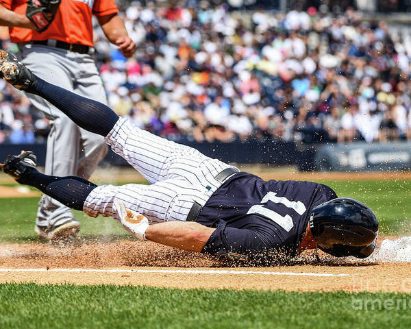 People Poster featuring the photograph Brett Gardner by Mark Brown
